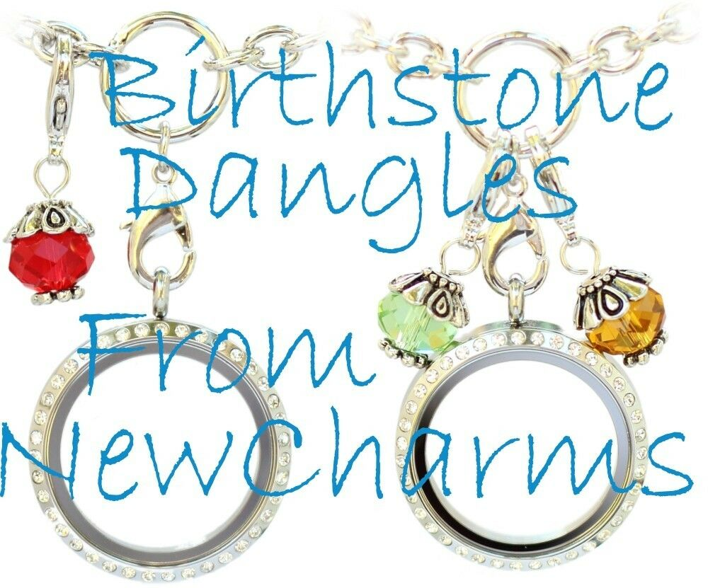 Birthstone Dangle Charm for Floating Locket Necklace Jewelry - New ...