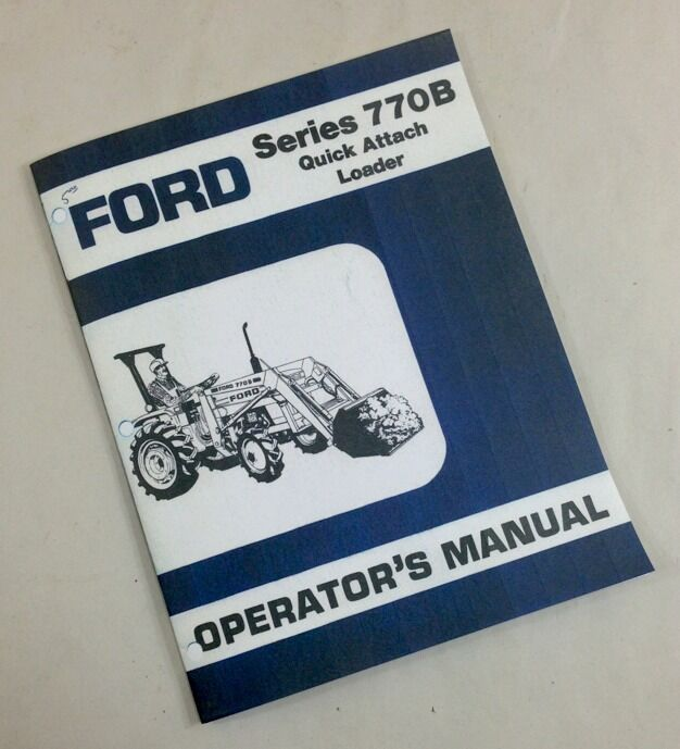 ford series  quick attach loader operators owners