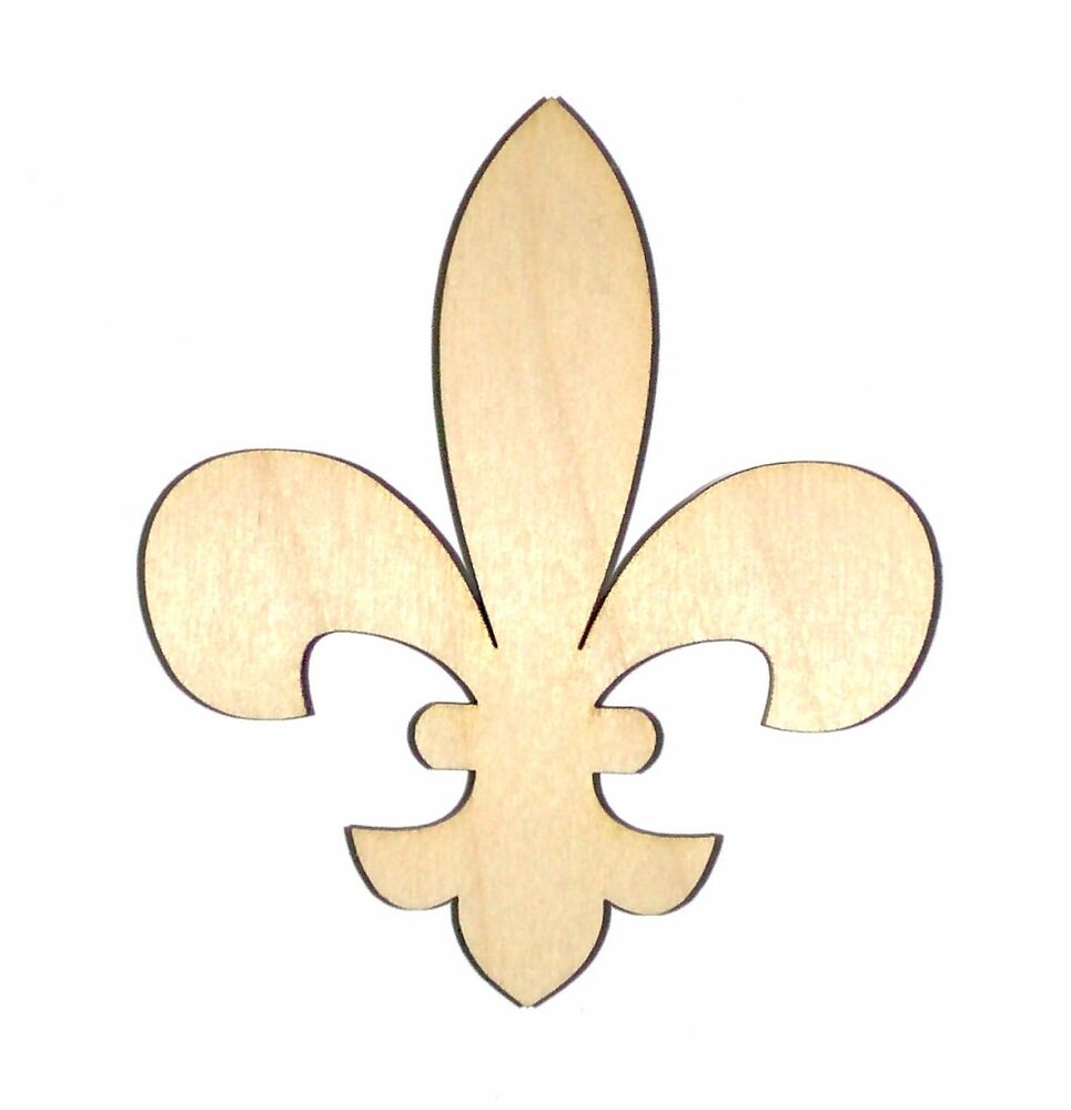fleur de lis unfinished wood shape cut out fdl68 crafts