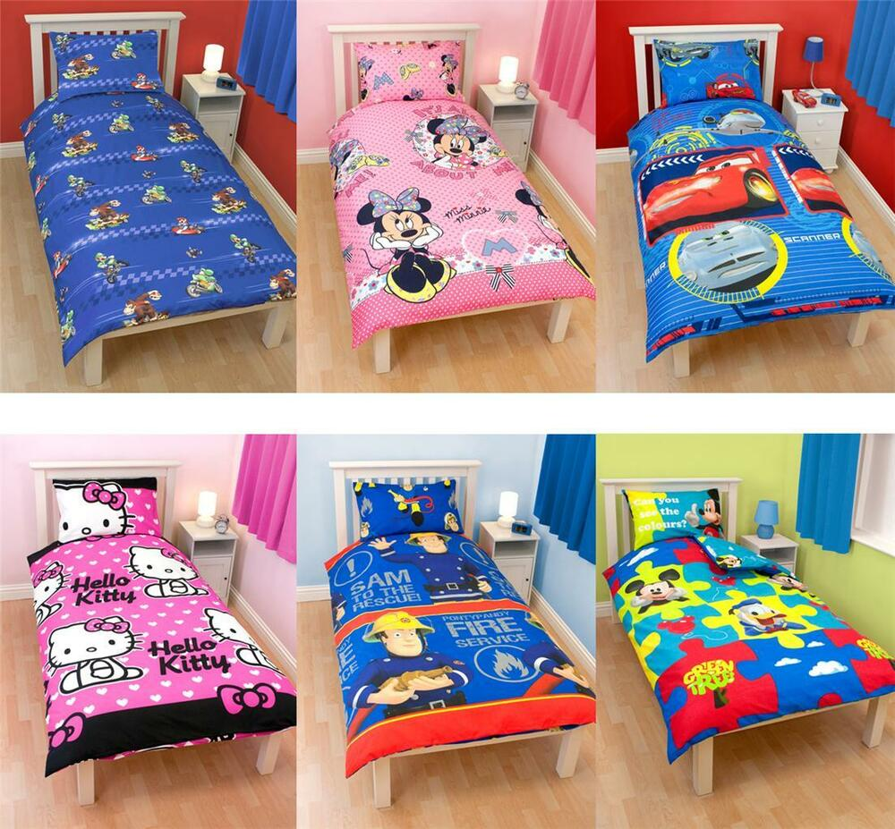 Kids Character And Generic Single Duvet Covers Childrens Bedding New Ebay