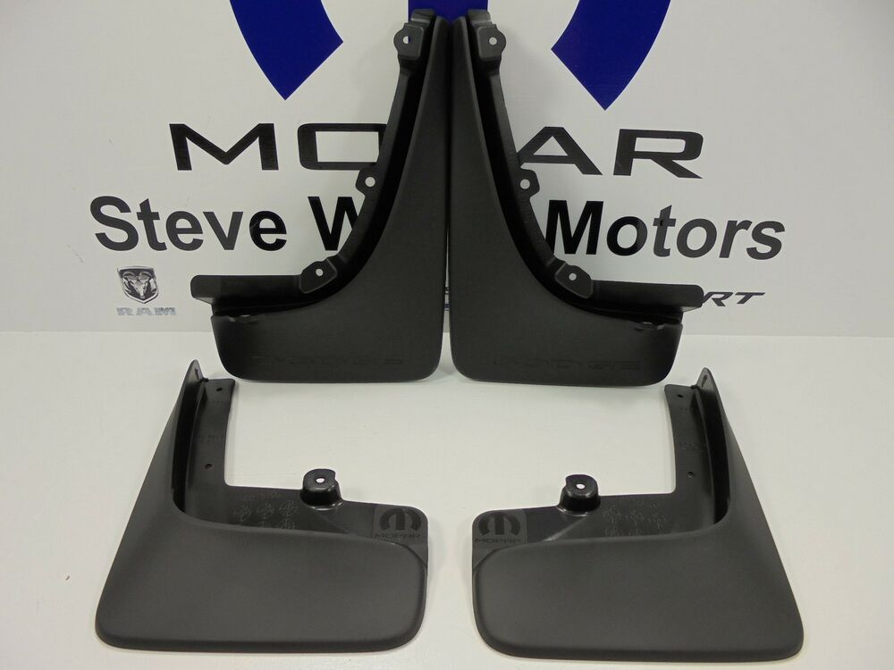 Dodge Dart Mud Flaps >> 13-16 Dodge Dart New Deluxe Molded Front & Rear Splash Guards Black Mopar OEM | eBay
