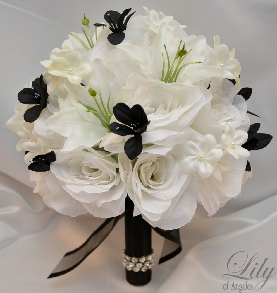 Elegant Wedding Flowers: 17pcs Wedding Bridal Bouquet Set Decoration Silk Flower