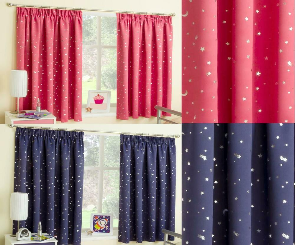 Childrens bedroom curtains pink blue yellow beige - Childrens bedroom blackout curtains ...