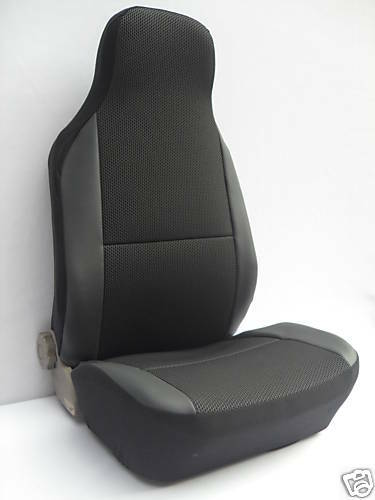 volvo c30 c70 car seat covers ebony black cloth fabric 2 fronts ebay. Black Bedroom Furniture Sets. Home Design Ideas