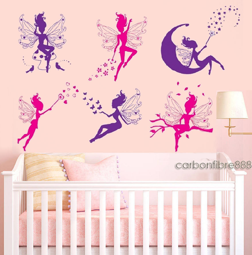 magic fairy wall stickers girls removable vinyl art decal kids bedroom