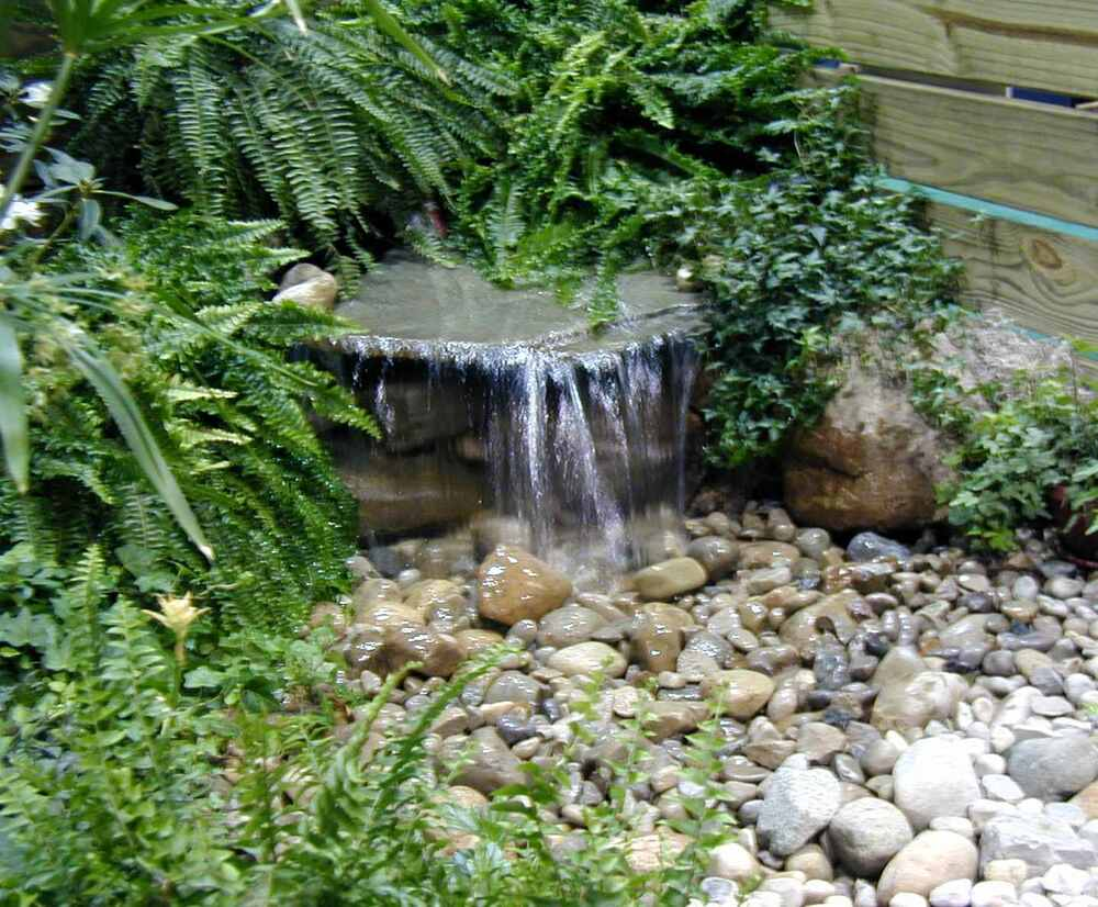 Pondmaster diy upgraded pondless waterfall kit water for Waterfall garden feature