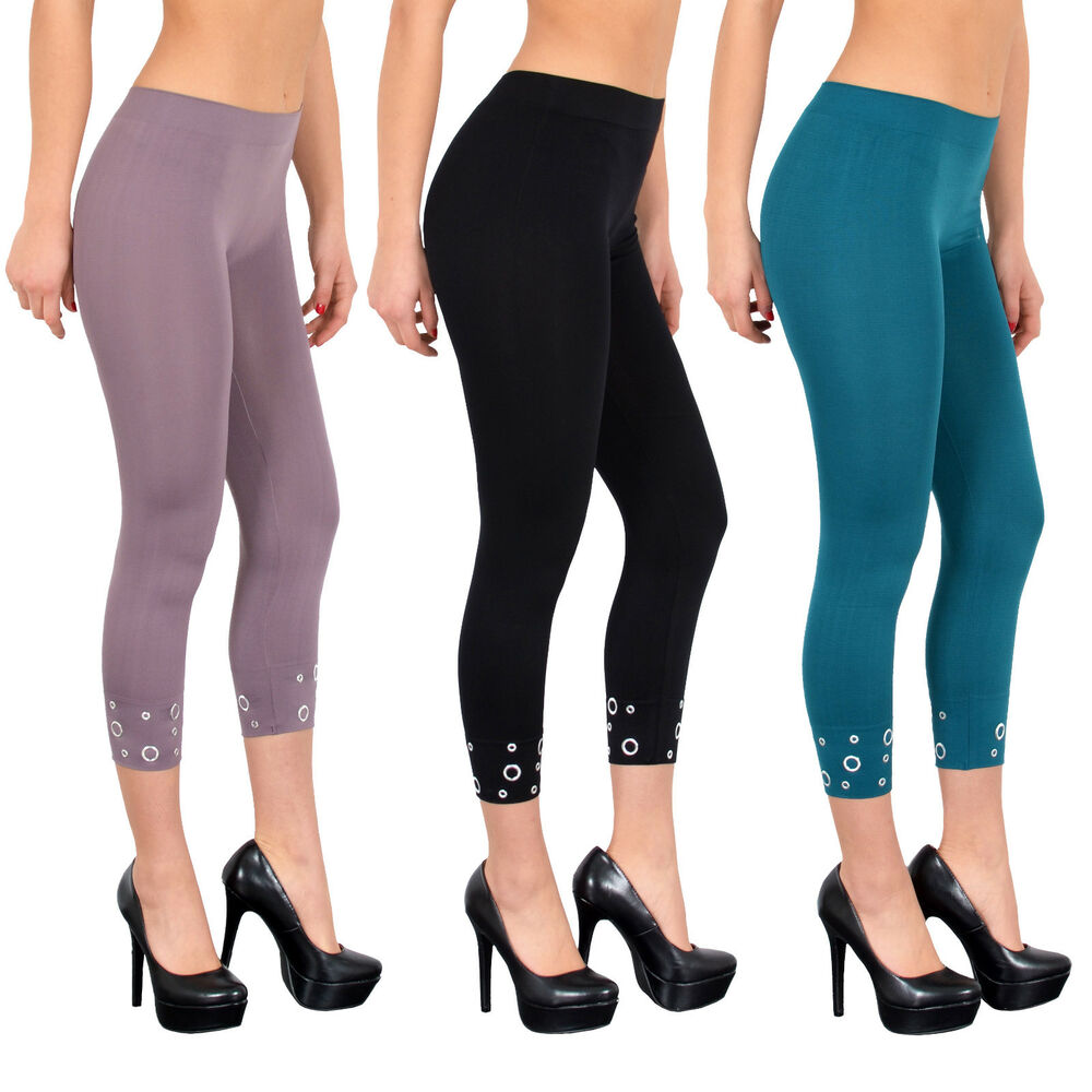 damen capri leggings legging legings leggins hose mit sch nen designs l03 ebay