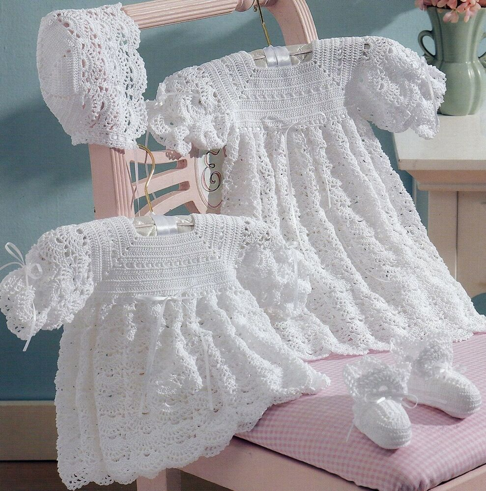 2 Baby Christening Sets Dress Dresses Gown Bonnet Booties