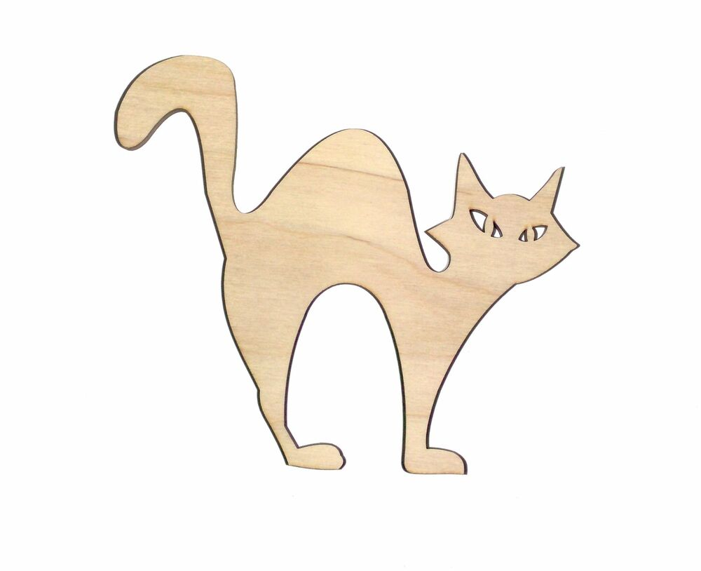 Cat Eyes Unfinished Wood Shape Cut Out CE13 Laser Crafts