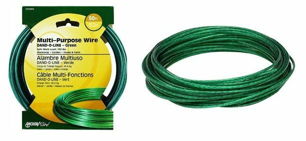 Hillman Dand O Line Green Plastic Coated Clothesline Wire