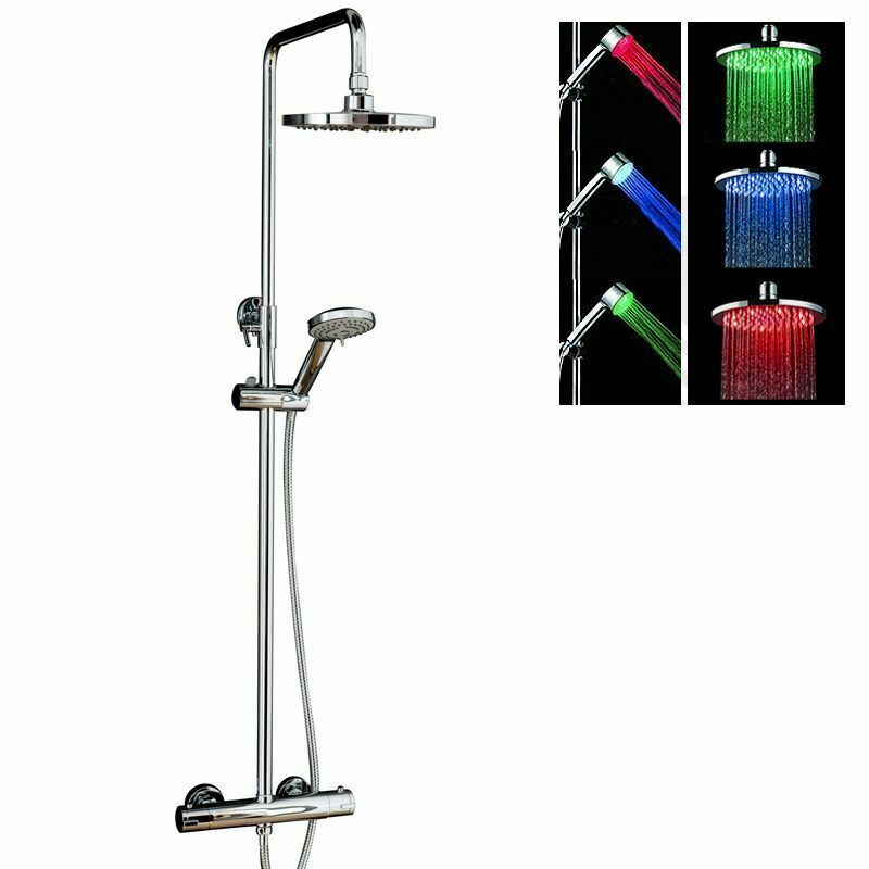 Exposed Thermostatic Shower Mixer Valve Fixed Head