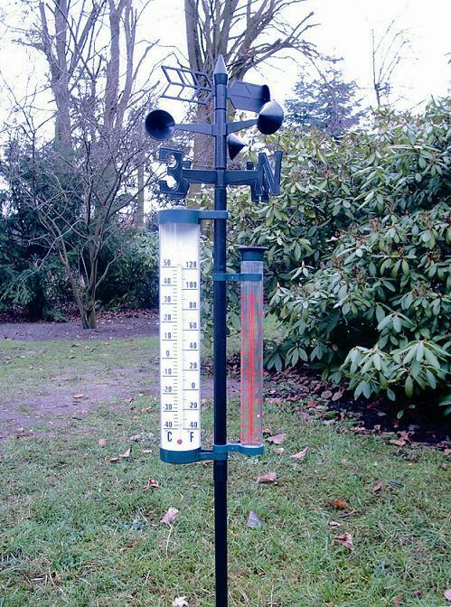 4 funktionen garten wetterstation barometer thermometer. Black Bedroom Furniture Sets. Home Design Ideas