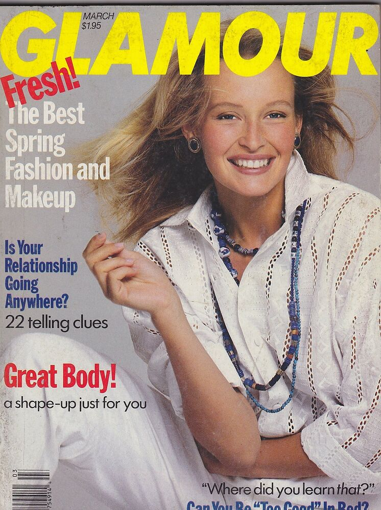 March 1989 Glamour Vintage Fashion Magazine Great Ads Ebay