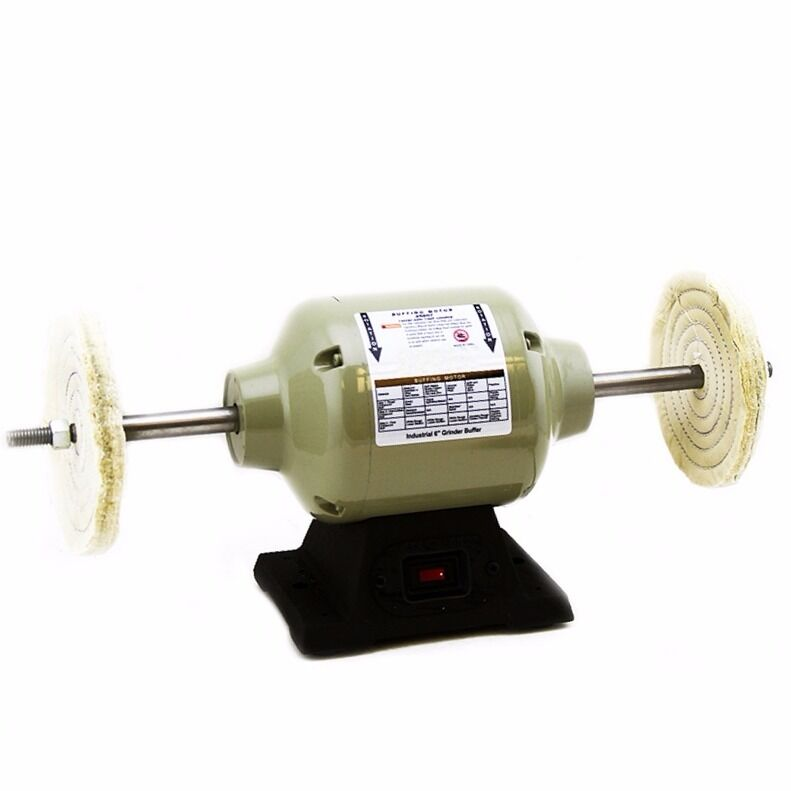 1 3 Hp Single Speed 6 Buffing Bench Top Buffer Polisher Industrial Grade New Ebay