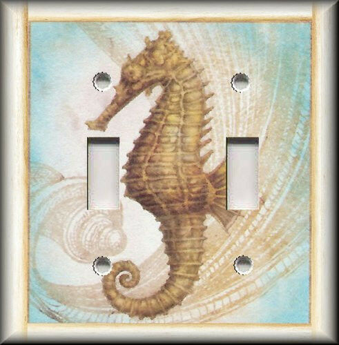Light Switch Plate Cover Decorative Seahorse Beach
