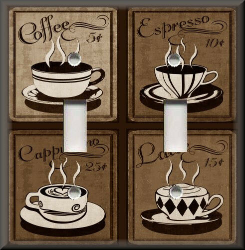 Light switch plate cover vintage cafe coffee for sale for Home decor items on sale