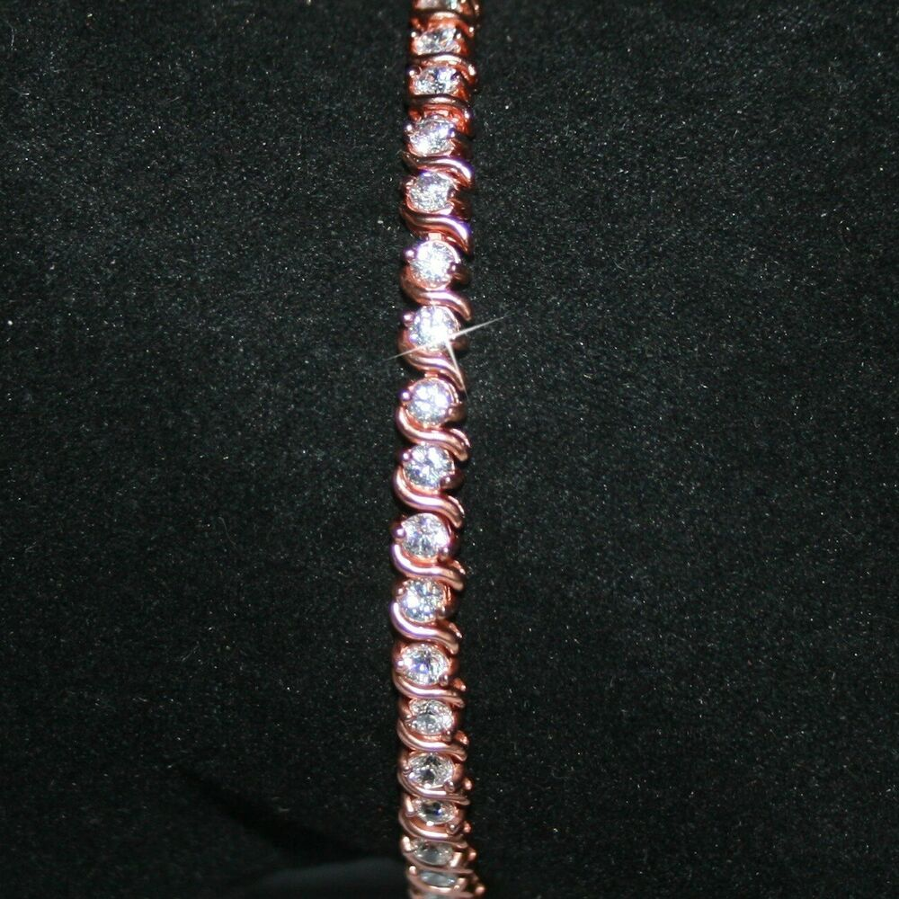 8 1 2 Carats Diamond Alternatives Tennis Bracelet 7 In
