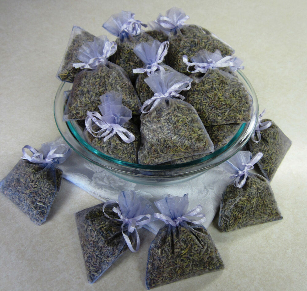 Set Of 30 Lavender Sachets Made With Lavender Organza Bags Ebay