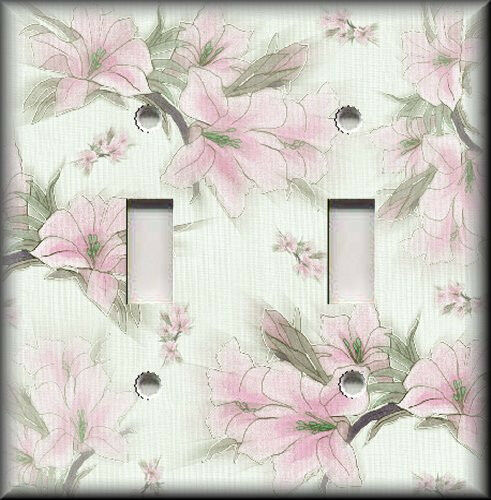 Light Switch Plate Cover Soft Pink Flowers Floral Home