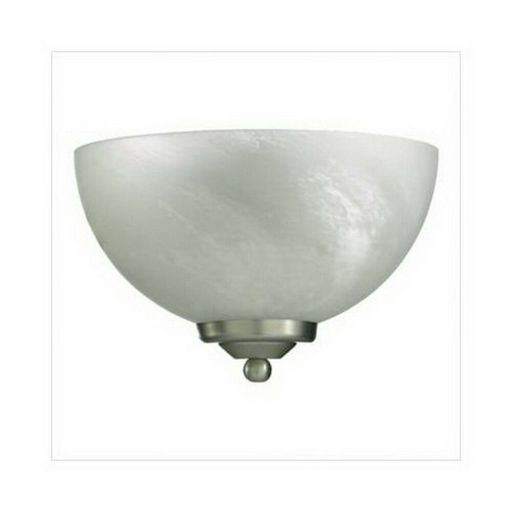 Satin Nickel And Alabaster Glass Wall Sconce 11
