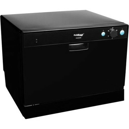 Portable Countertop Dishwasher, Black Compact Tabletop Mini Dish ...