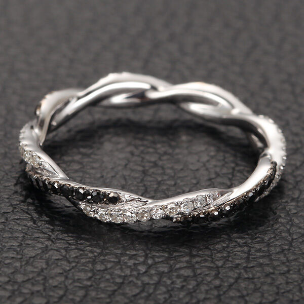 Full Bands: Full Eternity Band French Micro Pave .48ct Diamonds 14K