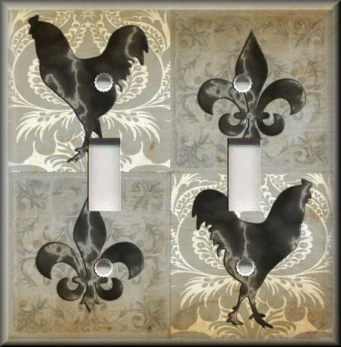 Light Switch Plate Cover Country French Rooster