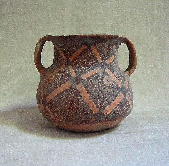 Ancient Chinese Neolithic Pottery Vessel Kansu Yangshao Culture Ca 2500 B C Ebay