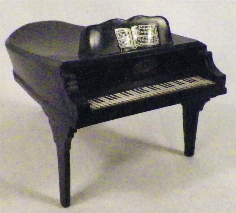Ideal Dollhouse Miniature Baby Grand Piano Plastic