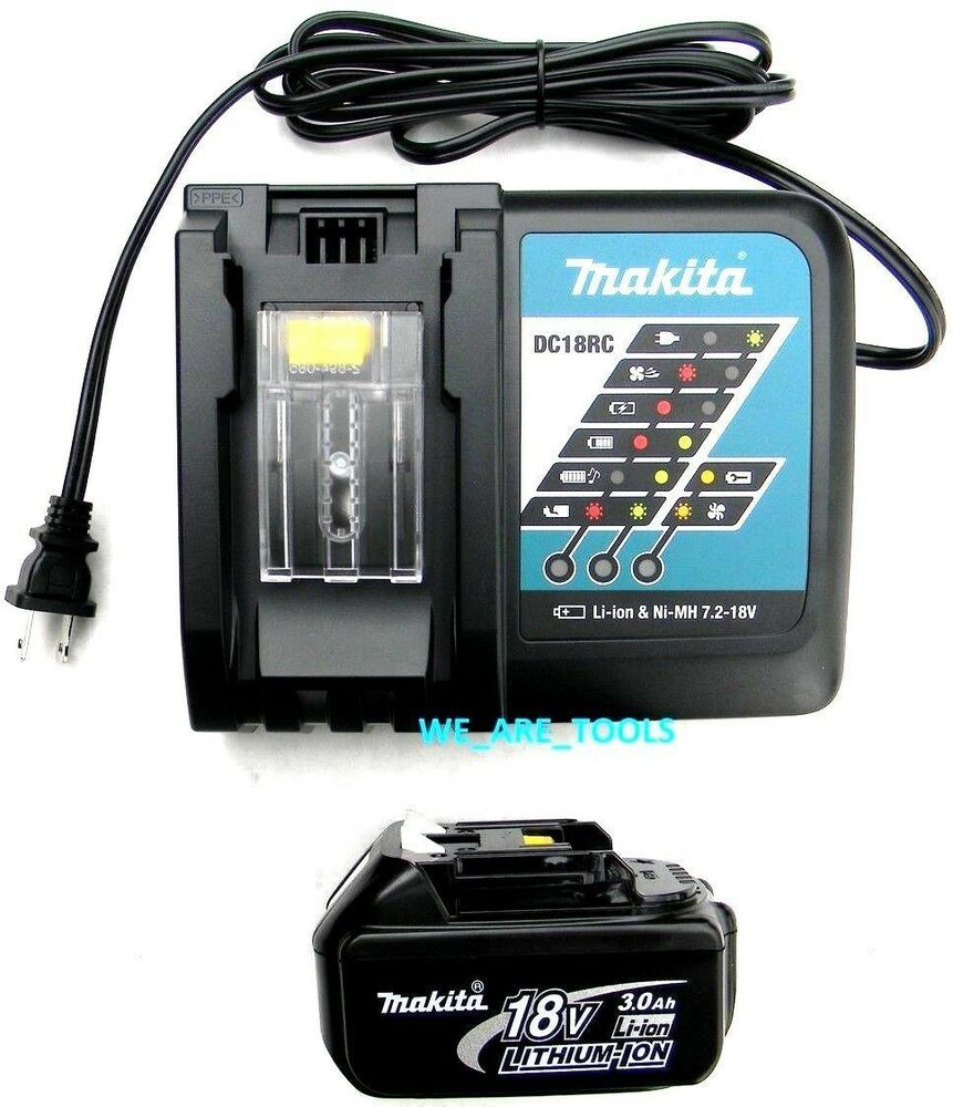 New Makita 1 Bl1830 Battery Dc18rc 18v Fast Charger Lxt