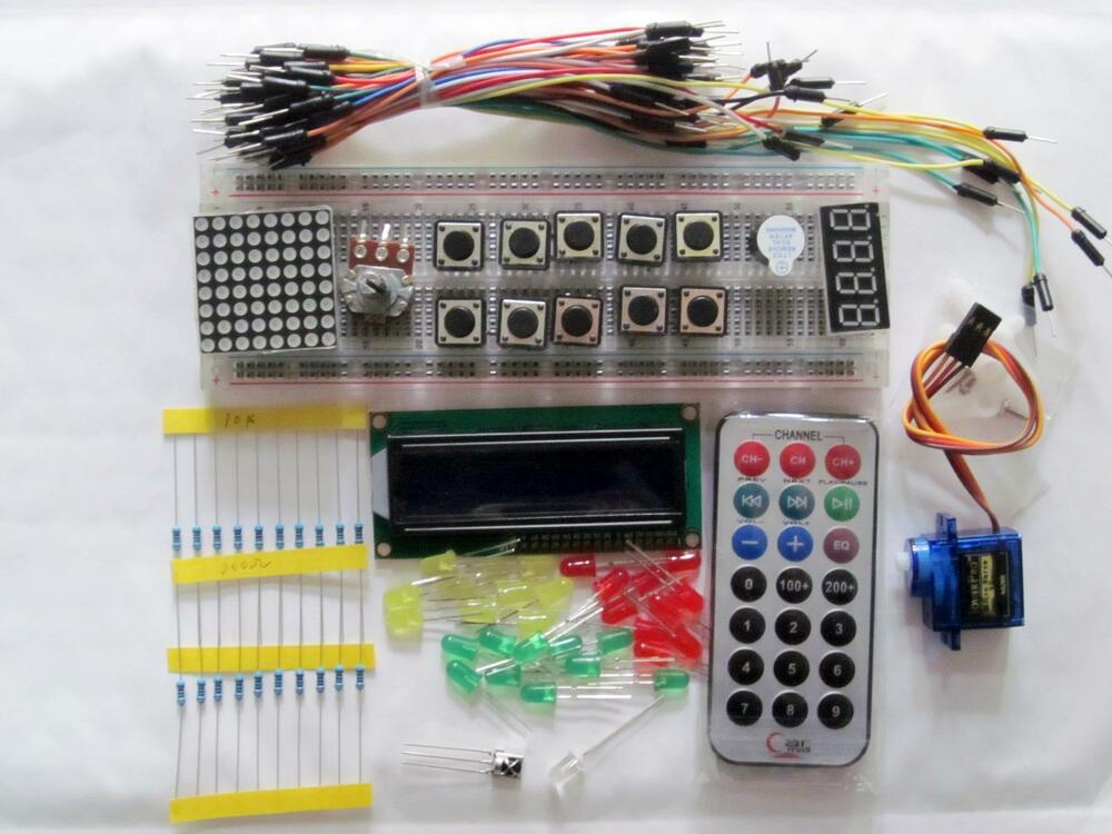 New starter kit blue lcd led wires breadboard resister