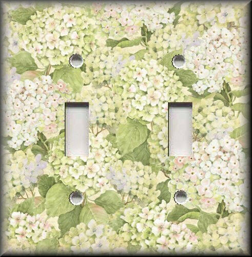 Light Switch Plate Cover Bed Of Hydrangea Flowers Shabby Chic Home Decor Ebay
