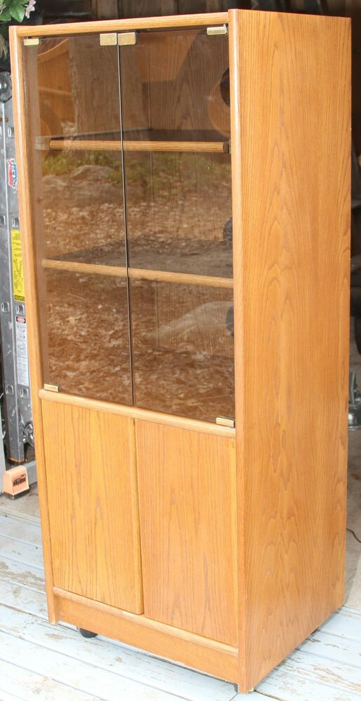 Big Tall Stereo ponent Media Rack Cabinet Tower Wood
