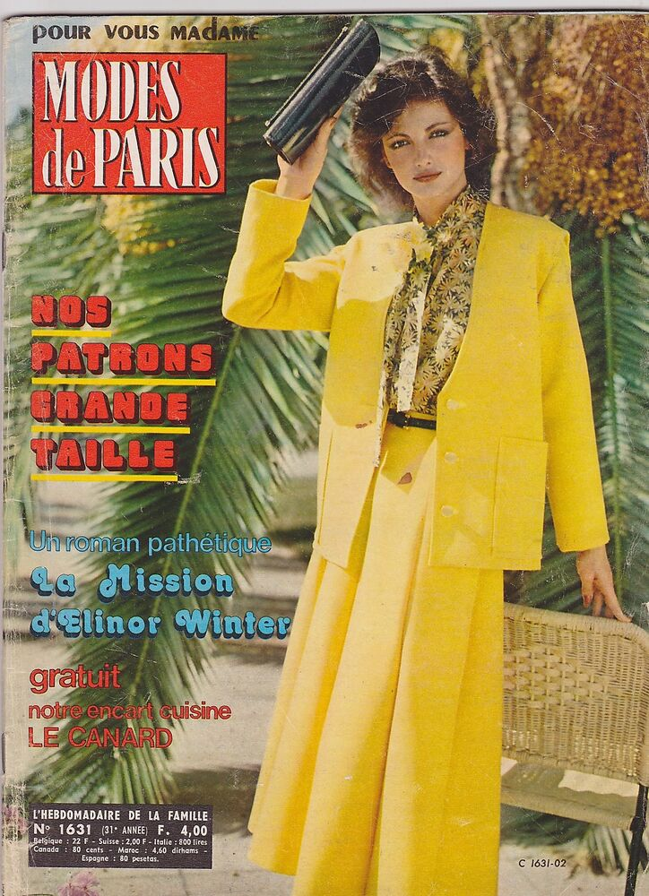 April 1980 Modes De Paris Vintage French Fashion Magazine