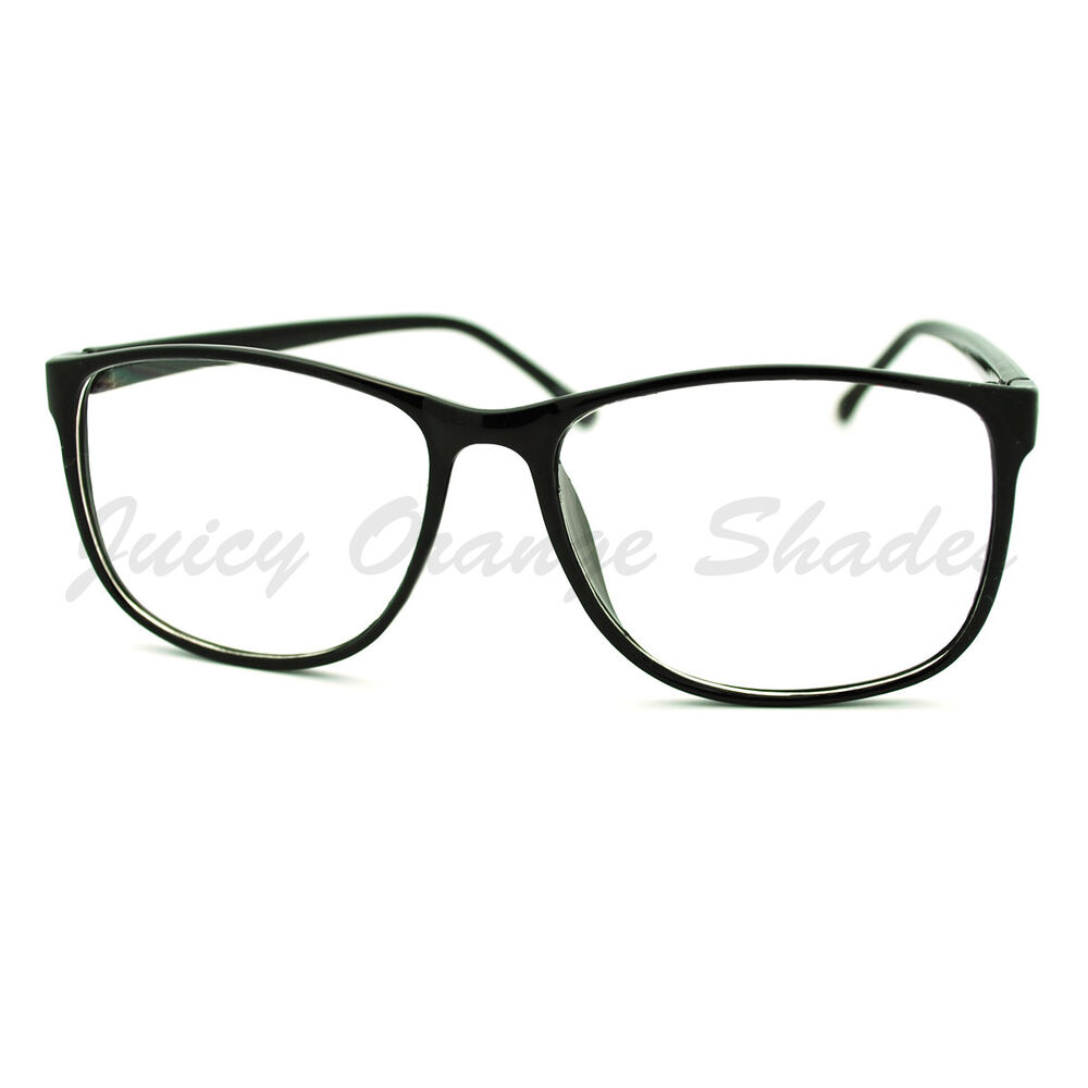 Square Clear Lens Eyeglasses Oversized Thin Fashion ...