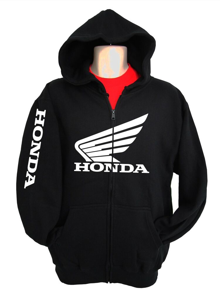 Honda Racing Sweatshirt Hoody Zipper Zip Up Hrc Cr Cbr 250