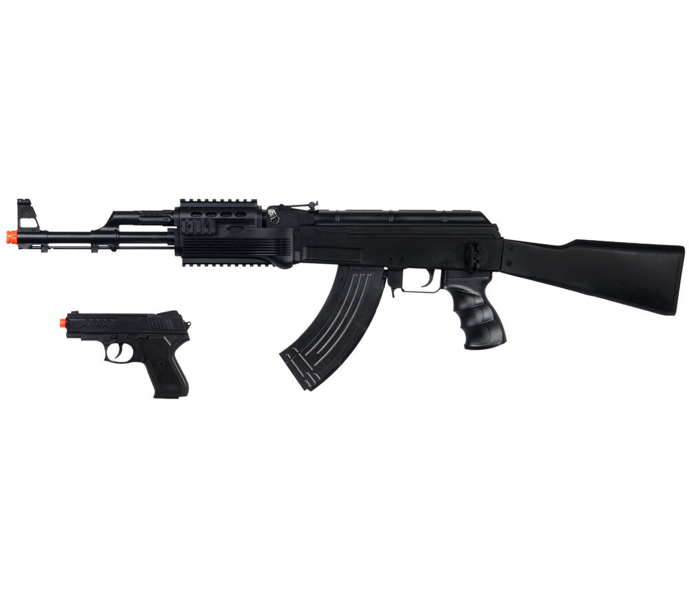 new ukarms tactical ak 47 kalashnikov spring airsoft rifle gun w pistol 6mm bb ebay. Black Bedroom Furniture Sets. Home Design Ideas