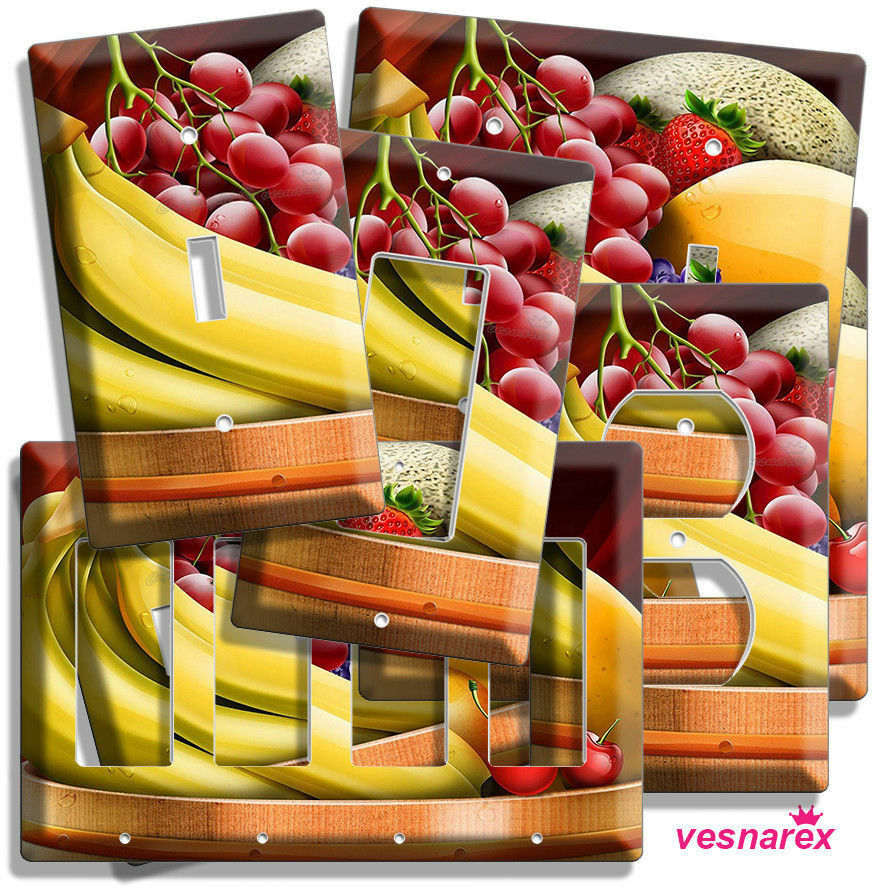 FRUIT BOWL BANANA LIGHT SWITCH OUTLET WALL PLATE COVER