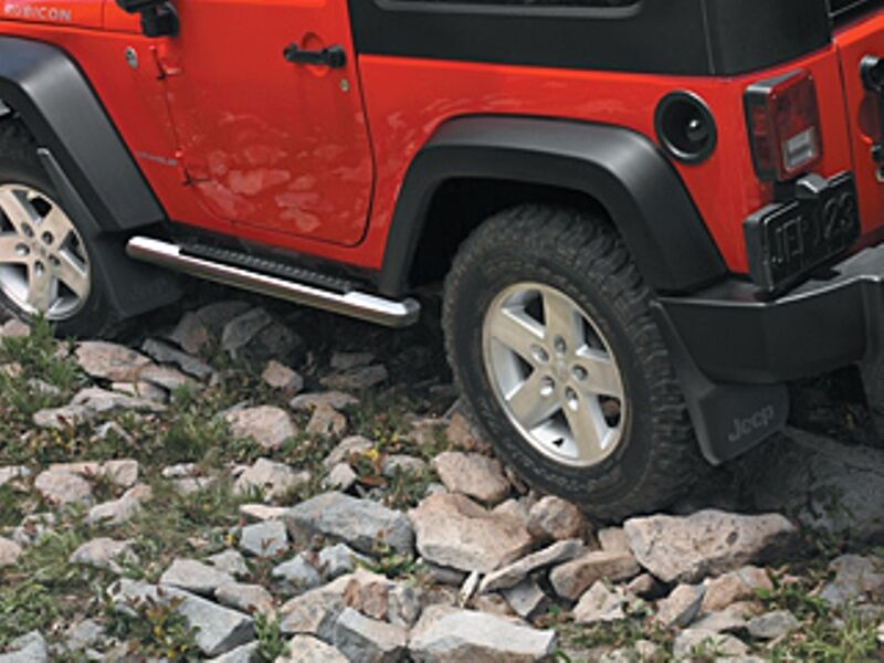 07 15 jeep wrangler new premium tubular side steps satin black 4 door. Cars Review. Best American Auto & Cars Review