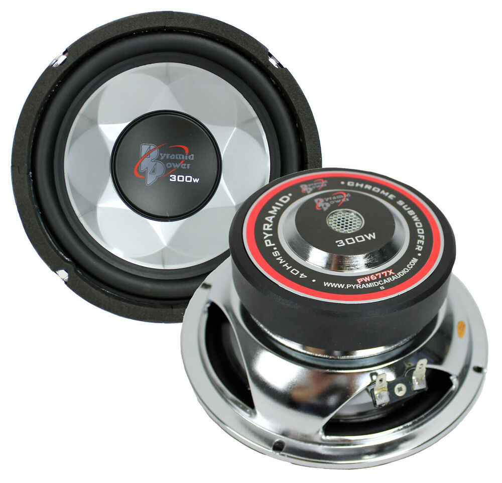 """2) New PYRAMID PW677X 600W 6"""" Car Audio Subs/Subwoofers"""