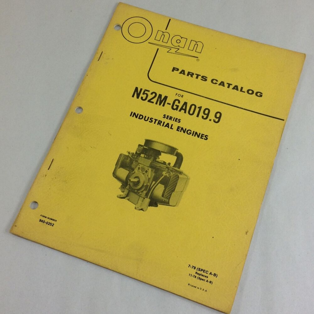 Onan Engine Parts Catalog : Onan n m ga series industrial engines parts catalog