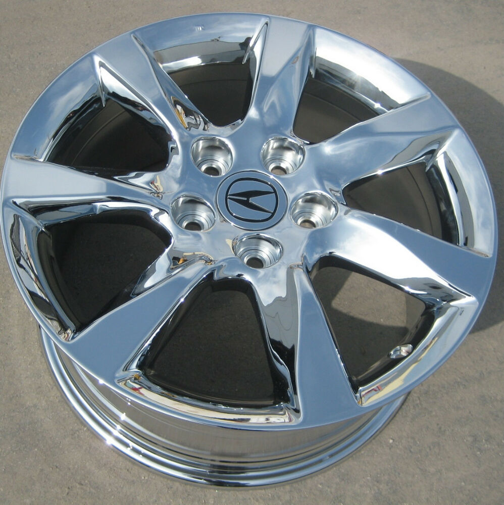 "1 SINGLE 17"" FACTORY ACURA TL CHROME OEM RIM WHEEL 2009-14"