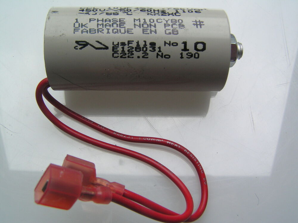 Ccl motor start capacitor 10uf 5 450vac mbl3 02 ebay for How to test a motor start capacitor