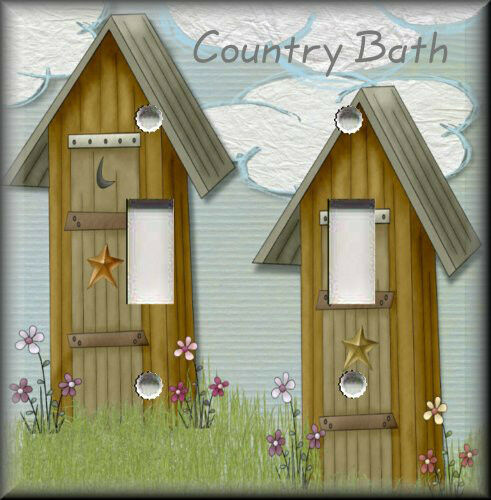 Decor Plate Cover Country Bath Outhouse Bathroom Decor Primitive Ebay