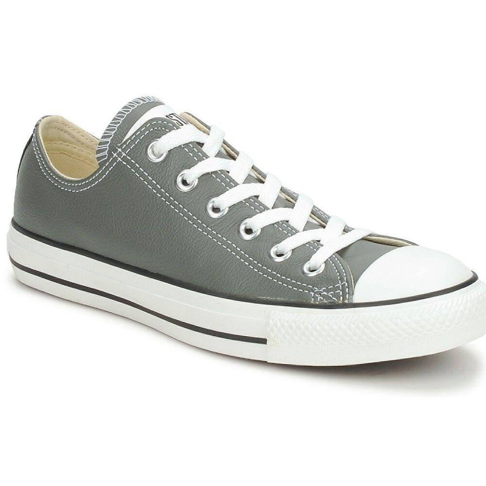 converse chuck s classic charcoal grey leather