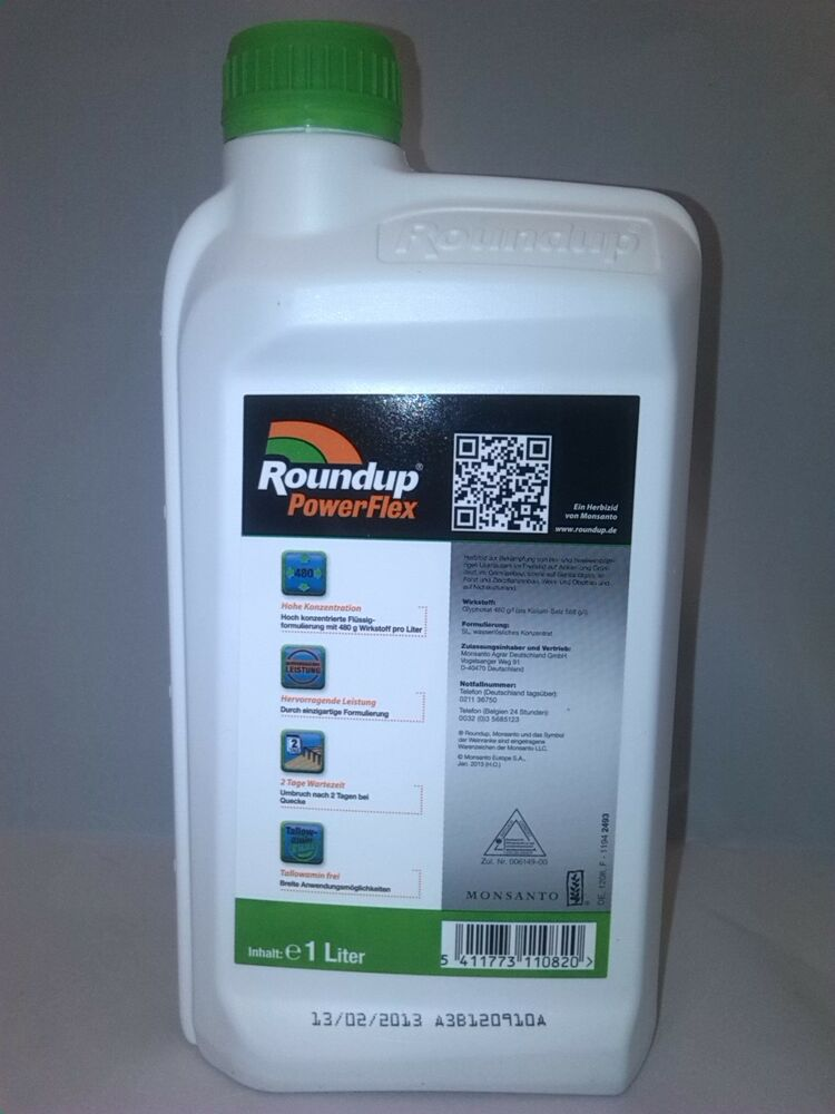 monsanto roundup round up powerflex 1 l glyphosat. Black Bedroom Furniture Sets. Home Design Ideas