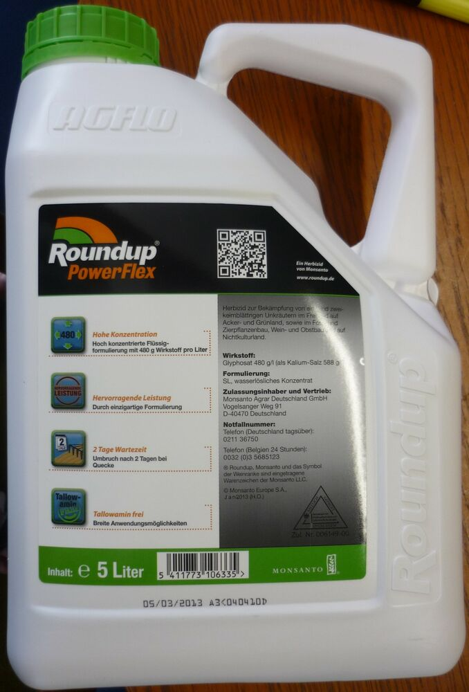 monsanto roundup powerflex 5 ltr unkrautvernichter. Black Bedroom Furniture Sets. Home Design Ideas