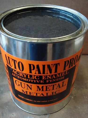 Gun metal met acrylic enamel single stage restoration auto for Automotive paint suppliers