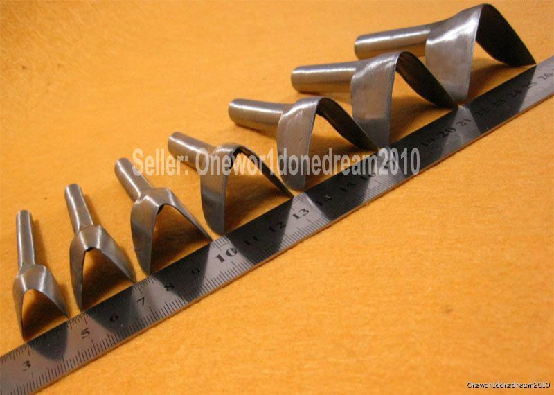 New 7 sizes v shape punch tool for diy leather guy craft for Leather shapes for crafts