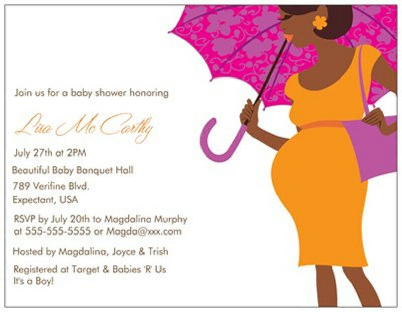20 30 50 African American Custom Baby Boy Girl Shower